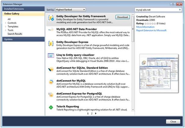 ADO.Net and MySQL