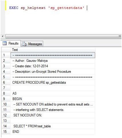Stored Procedure رمزی