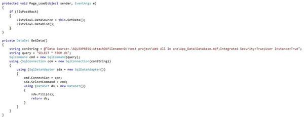 ListView در ASP.NET