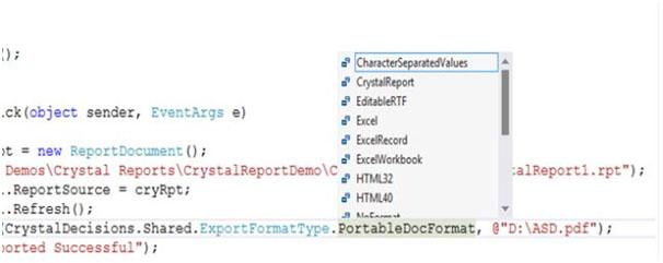 کریستال ریپورت به PDF