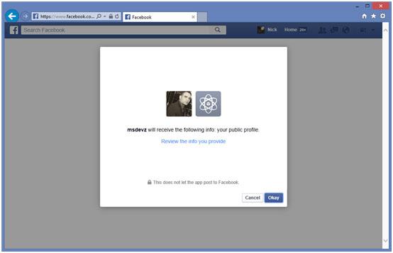 لاگین از طریق فیس بوک