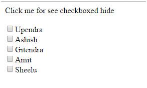 پنهان کردن CheckBox