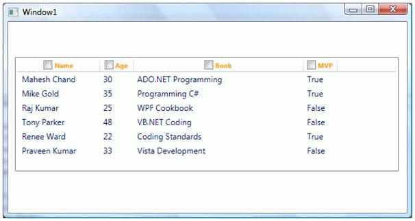 GridView در WPF