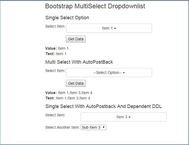 کار با DropDownList در ASP NET 4 0 با استفاده از Bootstrap