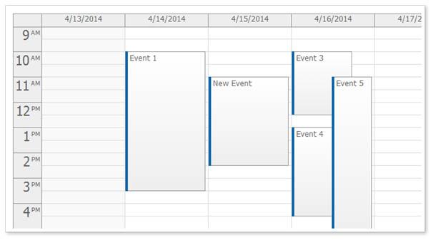 تقویم رویداد AJAX