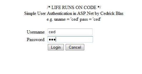 فرم login