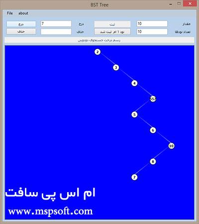 پروژه ساخت BST درخت دودویی و ایجاد ساختار داده ی به زبان سی شارپ