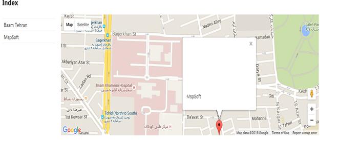 کار با Google Map در MVC