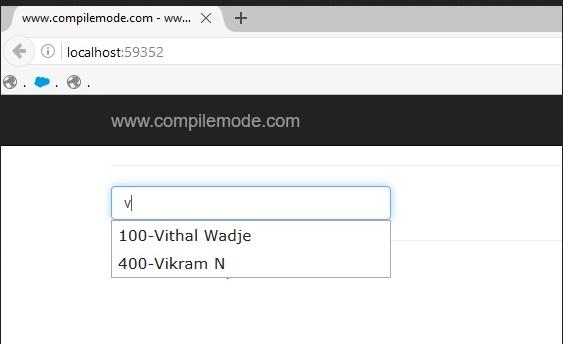 فراخوانی Value در Autocomplete