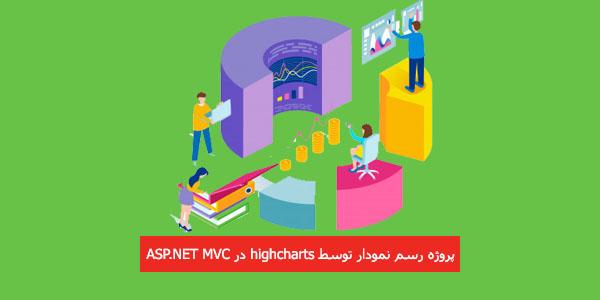 پروژه رسم نمودار توسط highcharts در ASP.NET MVC