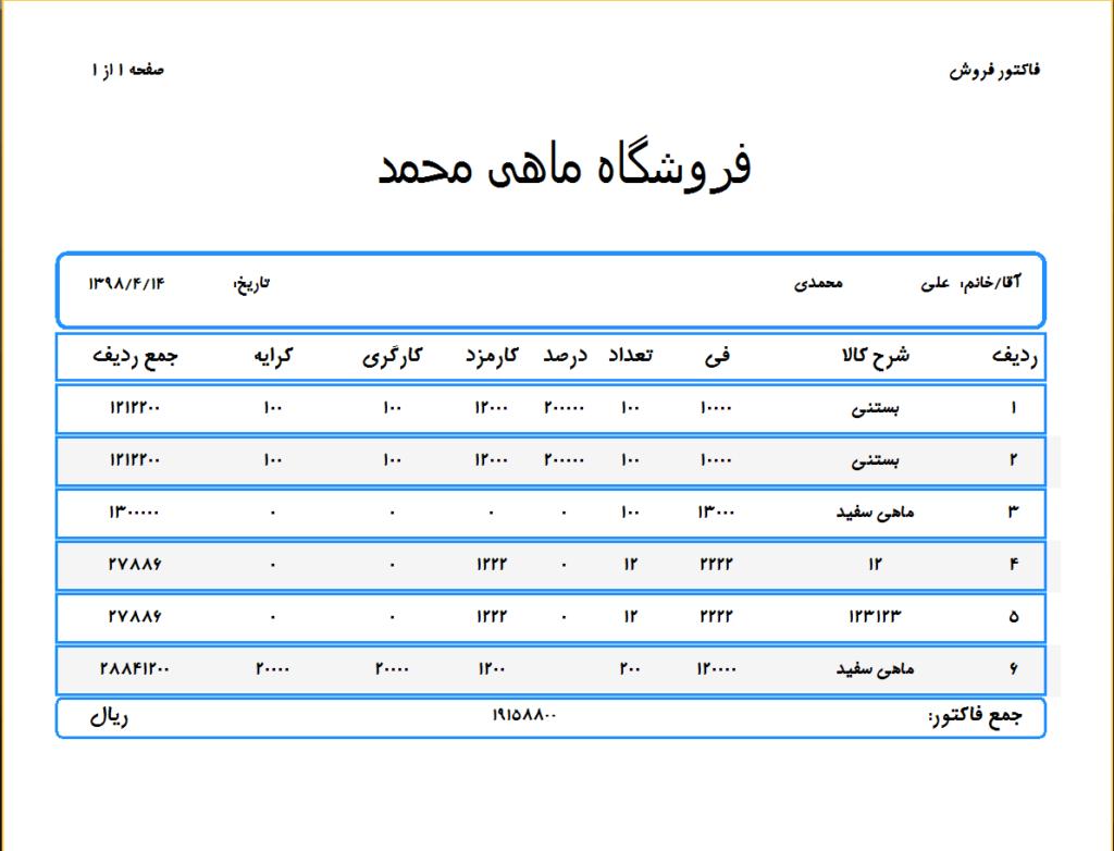 چاپ اطلاعات