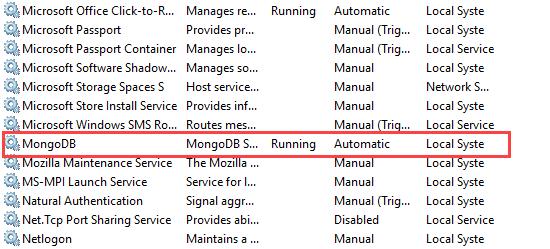 MongoDB Service