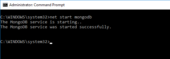 net start mongodb
