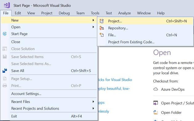 Creating an ASP.NET Core Application Solution