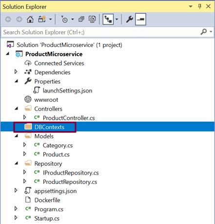 Adding EF Core DbContext