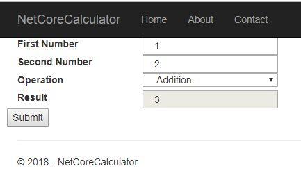 ماشین حساب در ASP.NET Core