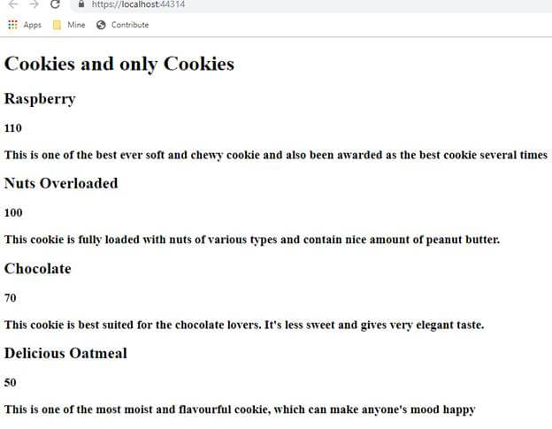 Cookies and only Cookies