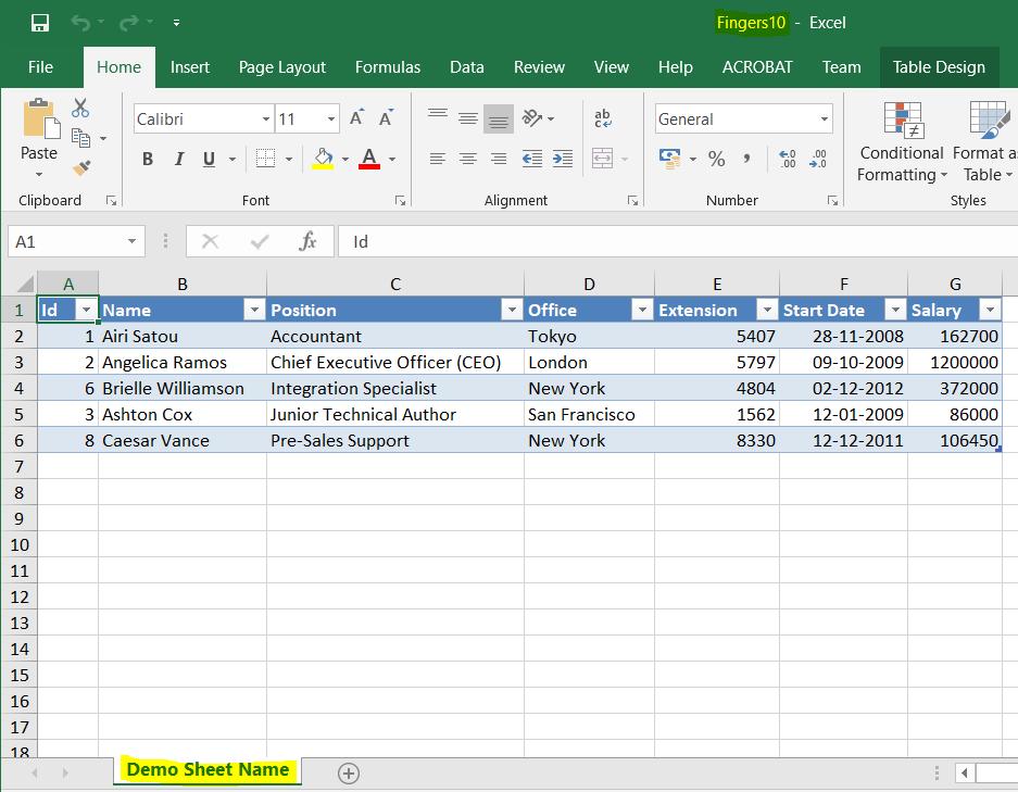 فایل Excel